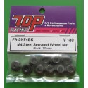 M4 Steel Serrated wheel Nut Black