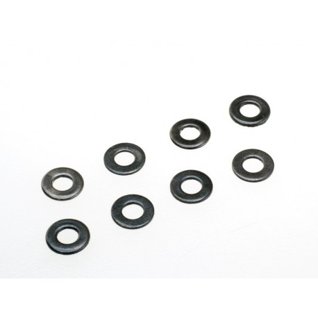 Steel flat washer black (10pcs)
