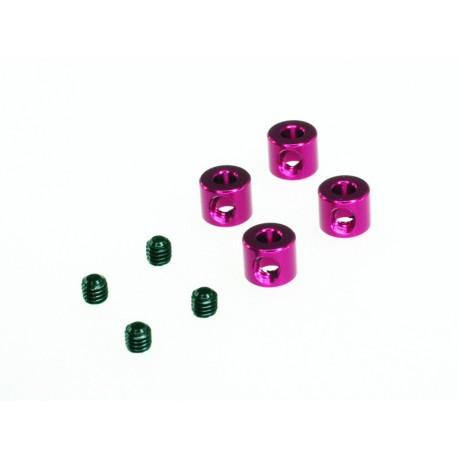 Stopper 2.5 mm hole - red (4pcs)