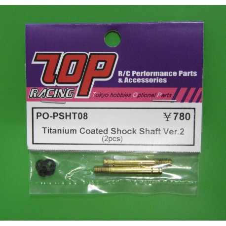 titanium coated shock shaft Ver.2 ( 2pcs) 25mm