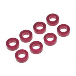 Pan car king pin spacer 2.0 mm red ( 8pcs)