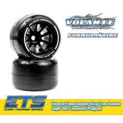 Volante F1 Rear Rubber Slick Tires Asphalt Super Soft Compound Preglued