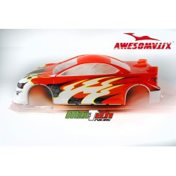 IS200 Bodyshell 190mm PRE-CUT AWESOMATIX ASPHAL