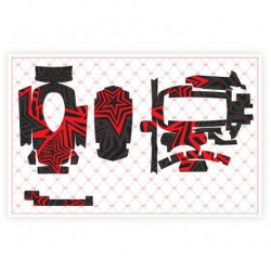 Sanwa M17 Decal Sheet (Red)