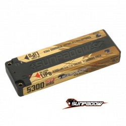 Sunpadow 7.4V 2S 5300mAh 130C/65C LiPo Battery