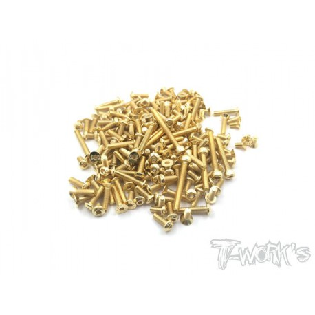 T-Work´s Awesomatix A800X Gold Plated Steel Screw