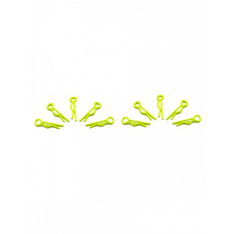 CLIPS PEQUEÑOS SMALL BODY CLIPS 1/10 YELLOW FLUOR AMARILLO FOSFOR