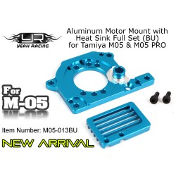 YEAH RACING ALU MOTOR MOUNT HEAT SINK M05