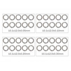 MR33 Shim Washer Set 10mm 0,05 / 0,1 / 0,2 / 0,3mm