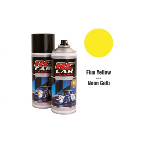 RC Car Colours Lexan Spray 150ml - Fluo Yellow