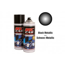 RC Car Colours Lexan Spray 150ml - Metal Black