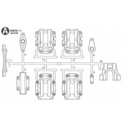 502X Transmission Case set TRF502X (42183)