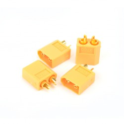 XT60 Male Only Plugs - 4pcs