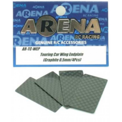 ARENA Deriva alerón Wing Endplate (Graphite) 0.5mm 4pcs