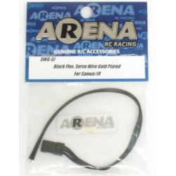 ARENA SWG-SJ Black Flex. Servo Wire Gold Plated Fo