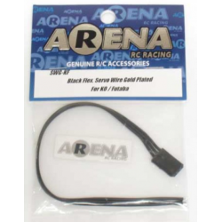 ARENA SWG-KF Black Flex. Servo Wire Gold Plated Fo
