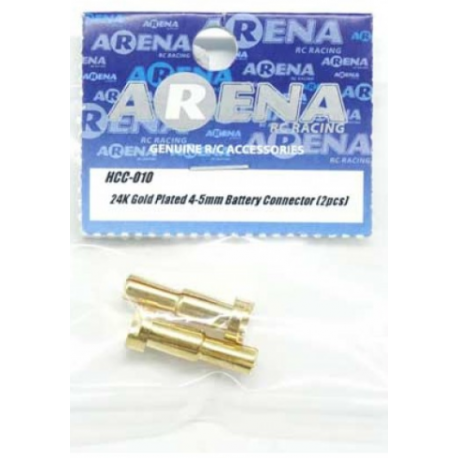 ARENA HCC-010 24K Gold Plated 4-5mm Battery Connec