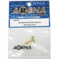 ARENA HCC-002 4mm High Current Gold Connector Male