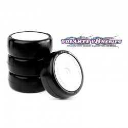 VOLANTE V8T 1/10 TC 36R RUBBER TIRE PRE-GLUED 4PCS
