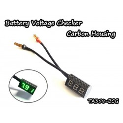 Vigor Carbon Housing Battery Checker (Green)