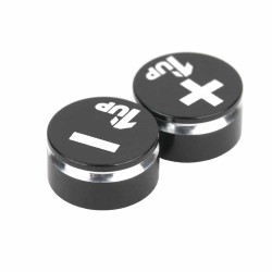 1up Racing LowPro Bullet Plug Grips - Black/Black