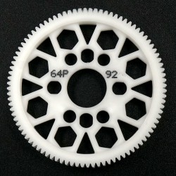 Competition Delrin Spur Gear 64P 92T For 1/10 On R