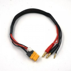XT60 Charge Cable w/ 4mm Plugs 35cm